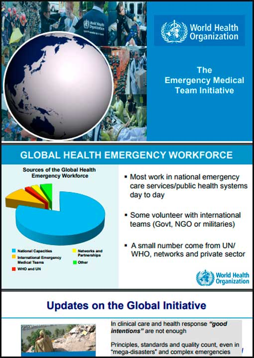 WHO The Emergency Medical Team Initiative
